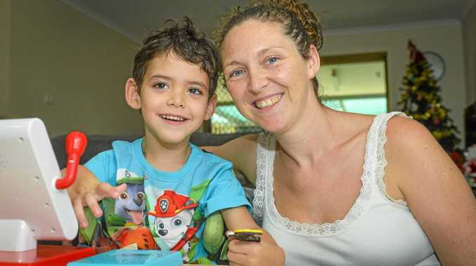 KELVIN'S KRUSADE: Four-and-a-half-year-old Kelvin Robb suffers from quadriplegic spastic cerebral palsy, dystonia and epilepsy. His mum Janie Sharpe has set up a Facebook page called Kelvin's Krusade to raise awareness and funds for his condition and therapy.