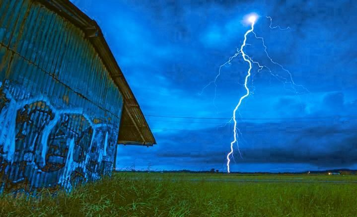 NATURE may put on its own sound and light show to welcome the New Year with the Bureau of Meteorology predicting severe thunder storms Sunday.