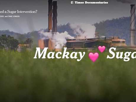 The New York Times has produced a short documentary titled 'Do Australians Need a Sugar Intervention?', which uses Mackay as a focal point. This is a still from the documentary.