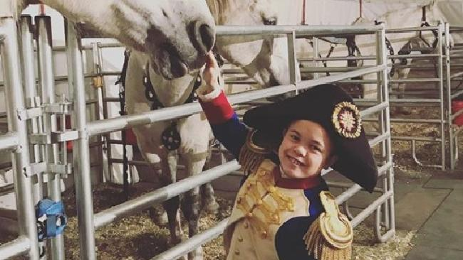 Sam Humphrey behind the scenes of The Greatest Showman. Picture: Instagram
