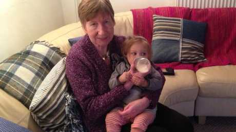 Elaine with her granddaughter, Sienna aged 10 months in 2013