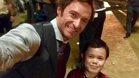 Sam Humphrey with Hugh Jackman