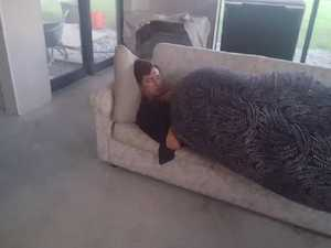 Man's act of kindness to stranger asleep on his couch