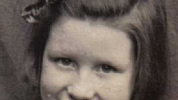 Rebecca's mum Elaine as a child.