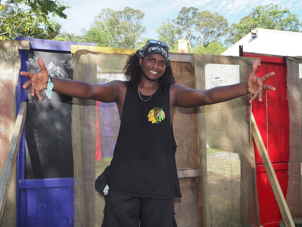 Baker Boy, real name Danzal Baker, makes his debut at the Woodford Folk Festival.