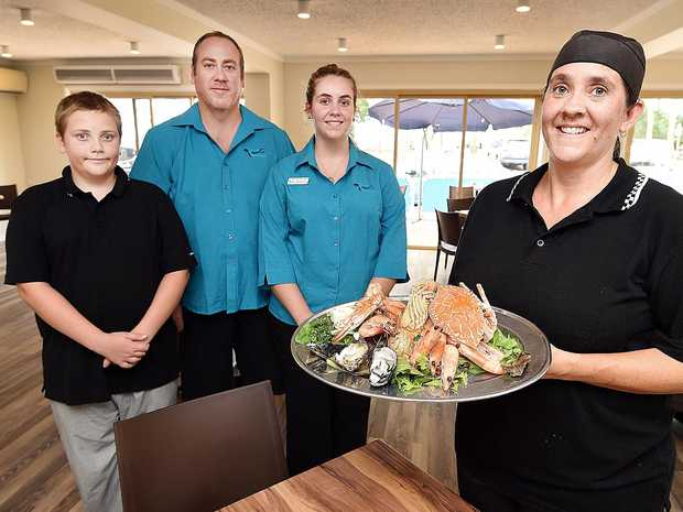 FAMILY AFFAIR: Seaside Cafe Restaurant's team, from left, Lachlan, Robert, Tenecia and Carolyn Brummell.