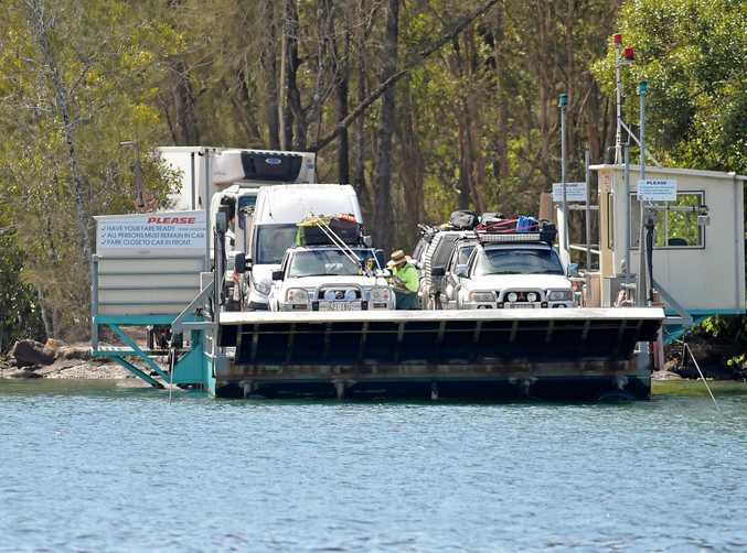 A MAN has been charged with obstructing police and resisting arrest following an incident late Saturday afternoon at the Noosa River ferry.