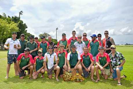 BITS Cricket Club celebrate at the Gladstone Cricket awards.