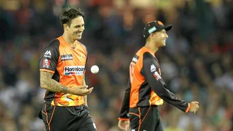 Mitchell Johnson will play a major role for the Scorchers. (AAP Image/David Crosling)