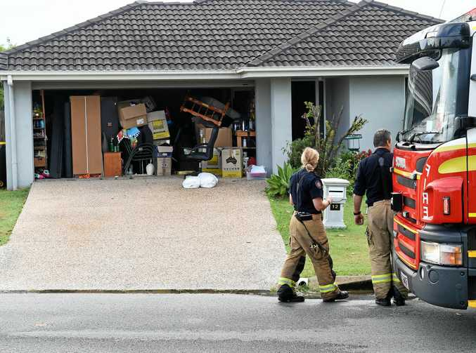 A SIPPY Downs residence was struck by lightning as a violent storm erupted over the Sunshine Coast yesterday afternoon.
