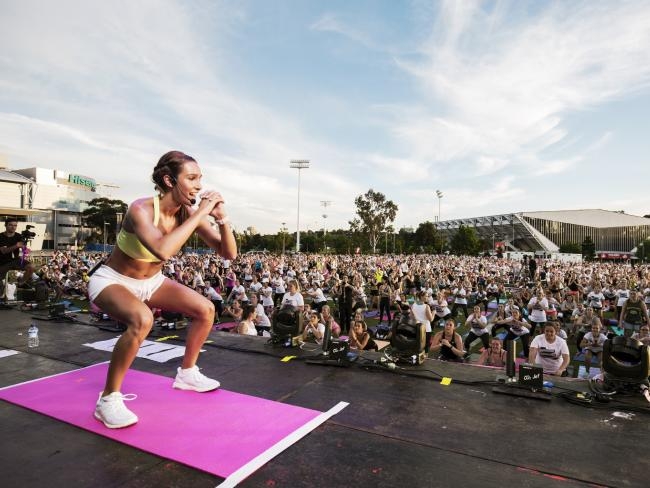 Kayla Itsines has inspired a nation to get fit, but her influence is growing worldwide. Picture: Jeremy Simmons