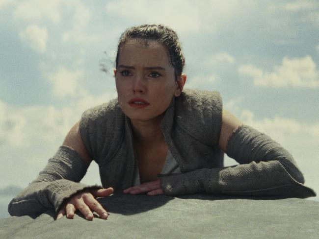 A scene from film Star Wars: The Last Jedi. Rey (played by Daisy Ridley). Picture: Lucasfilm Ltd. © 2017