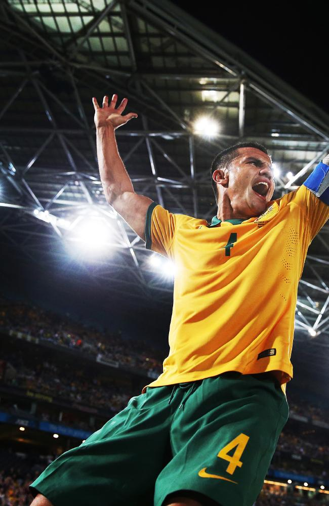 Australia's Tim Cahill may be part robot who runs off Duracell batteries. Picture: Phil Hillyard