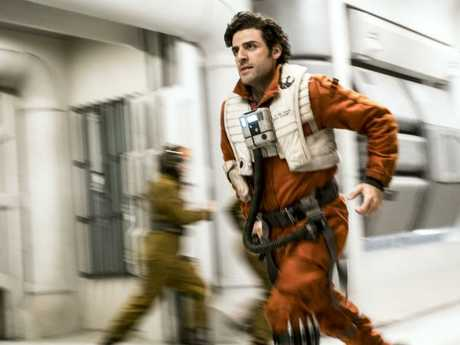 Poe Dameron (played by Oscar Isaac) Picture: David James. ©2017 Lucasfilm Ltd