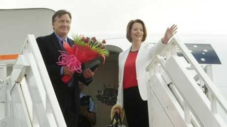 Former PM Julia Gillard, with partner Tim Mathieson.
