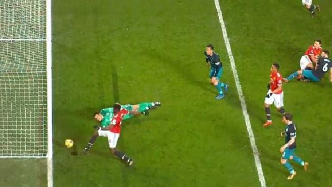 Paul Pogba's goal was disallowed