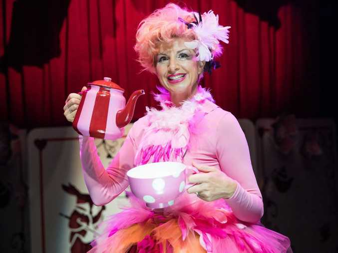 Monica Trapaga stars in The Funatorium: Mad Hatter's Tea Party coming to QPAC for the January school holidays.