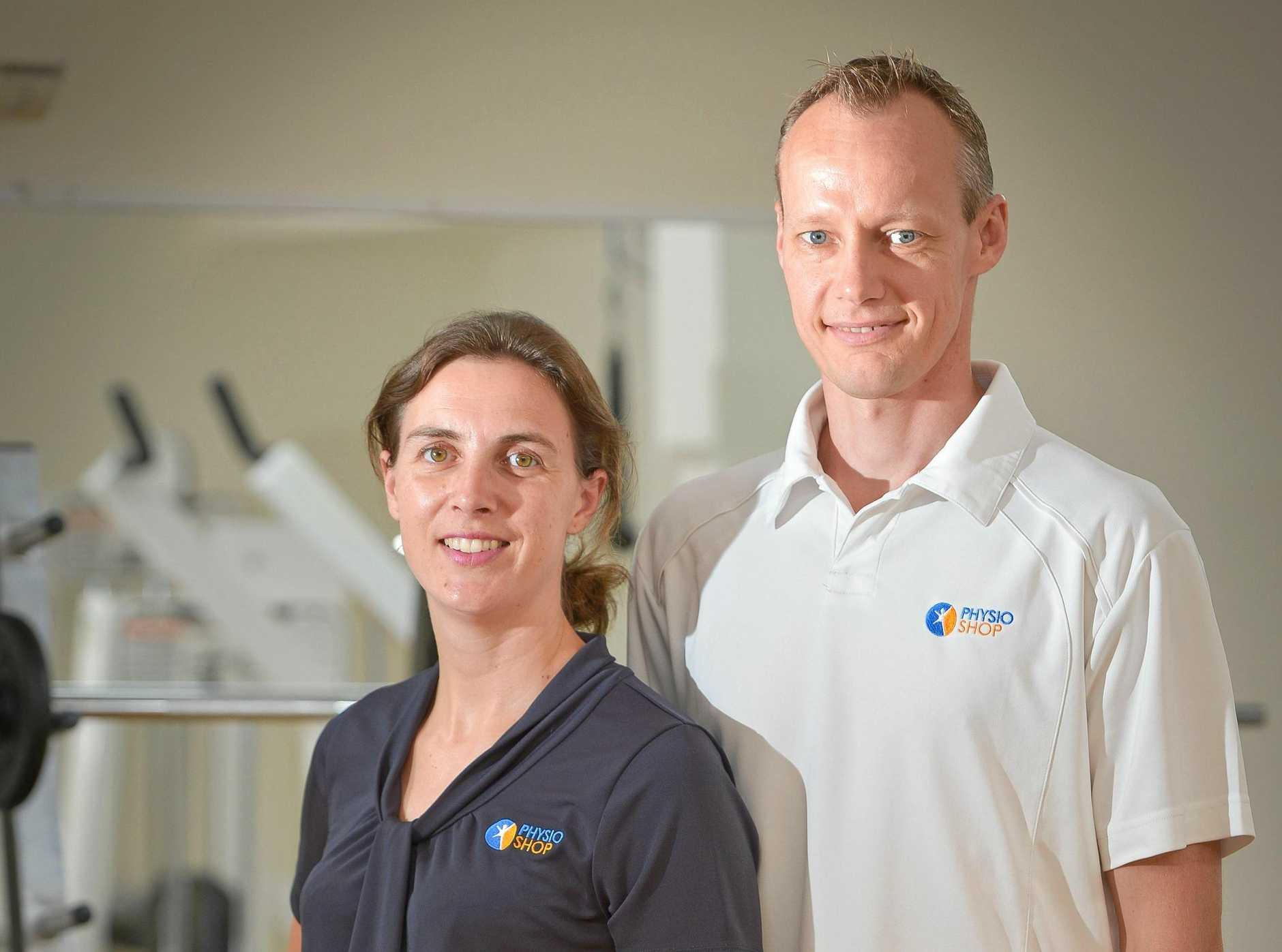CONTINUED GROWTH: Esther Groen and Klaas Banga from Boyne Island Physioshop are focused on new business in Gladstone Central.