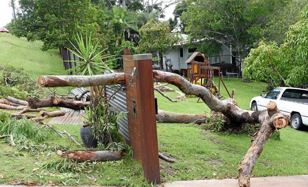DAMAGE DONE: The storm late New Year Eve afternoon caused a pocket of damage around Buderim-Mooloolaba Road and the Buderim Gardens Retirement Village. Wind gusts to 65 km/h were recorded at Sunshine Coast Airport.
