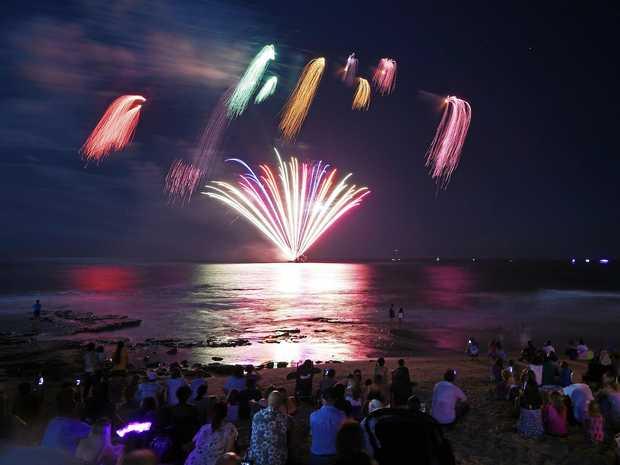 New Years Eve fireworks at Mooloolaba.