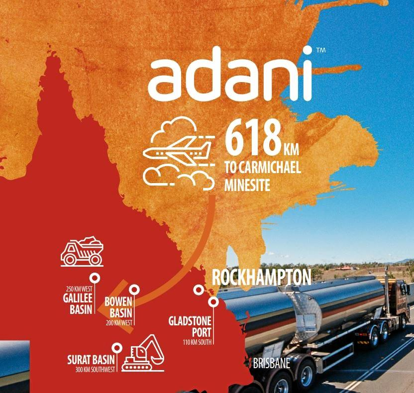 Rockhampton and Townsville will be FIFO hubs for Adani's Carmichael Coal Mine.