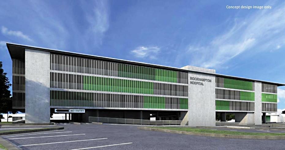 The concept plan for the new multi-level Rockhampton Hospital car park.