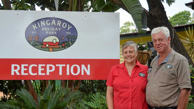 NICE SURPRISE: Owners of Kingaroy Holiday Park Helen and Russell Kirk have enjoyed a busier than expected holiday season.