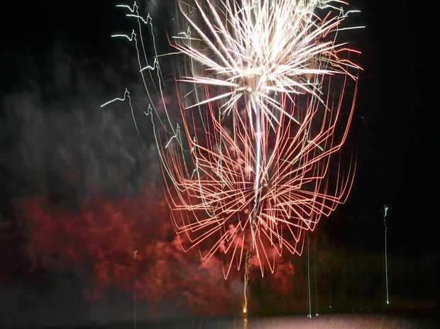 Fireworks at Boondooma.  Photo Barclay White / South Burnett Times
