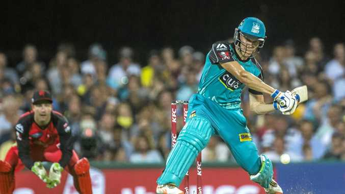 Sam Heazlett looks to blast runs for the Brisbane Heat.