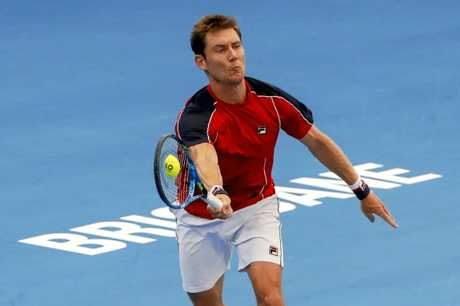 Matthew Ebden in action at the Brisbane International.