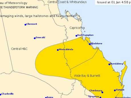WARNING: The Bureau of Meteorology has issued a severe storm warning for the regions in yellow.