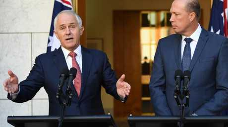 Prime Minister Malcolm Turnbull, the republican, alongside Peter Dutton, a monarchist. I'm sure this won't be a distraction for the Coalition.