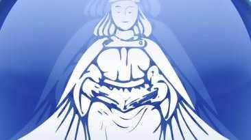 Virgo zodiac button icon, isolated on white background.
