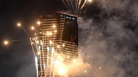 New Year's Eve fireworks over Southbank in Melbourne. Picture: Jay Town
