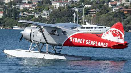 The plane that crashed into the Hawkesbury River.