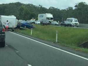 Hour-long delay on Bruce Hwy after three-vehicle pileup