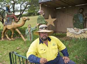 Total ass steals treasured nativity donkey from city garden