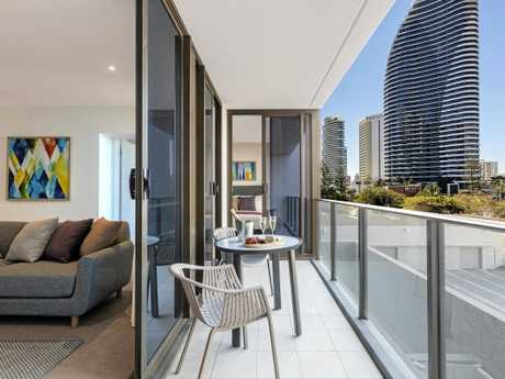 Choose from one or two-bedroom tastefully decorated apartments at Avani Broadbeach.