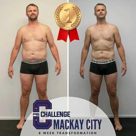 Winner Ross Armstrong's transformation.