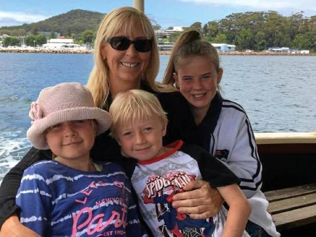 TRAGEDY: Stephanie King and her children, Ella-Jane Kabealo, Chloe Kabealo, and Jacob Kabealo.