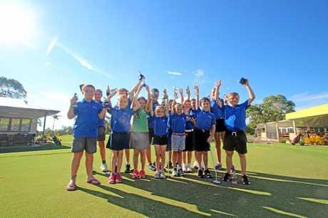 JUNIOR GOLF: Hervey Bay Golf Club's award winners of 2017.