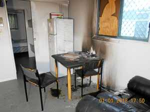 Nebo paramedics' quarters burgled and set on fire