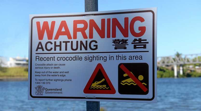 CROC WARNING: There has been two recent crocodile sightings in the Burnett River near Sandy Hook skiclub.