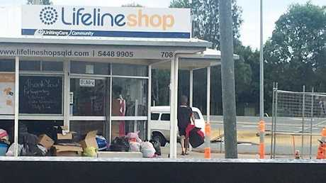 Thieves taking donated items from a lifeline store.