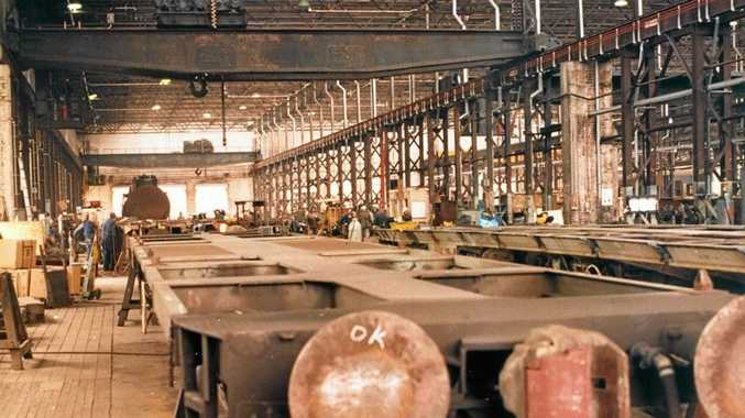 The wagon shop Workshops in 1987.