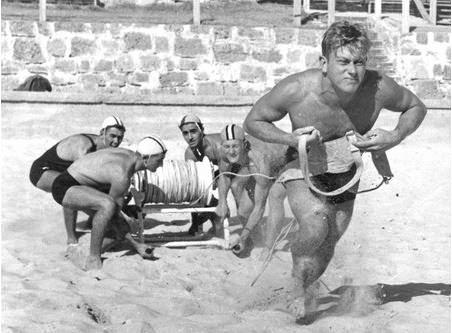 KEEPING SWIMMERS SAFE: Surf lifesaving beltmen were a regular sight on Australian beaches and were credited with helping to save lives on Ballina Beach in 1968.