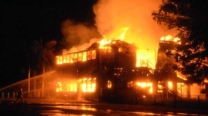The Archer Hotel in Rockhampton was destroyed by fire on Janaury 1.
