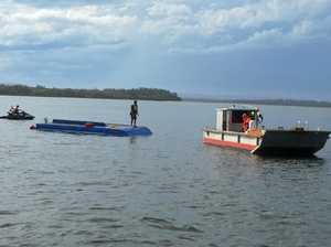 NYE hail storm overturns boat