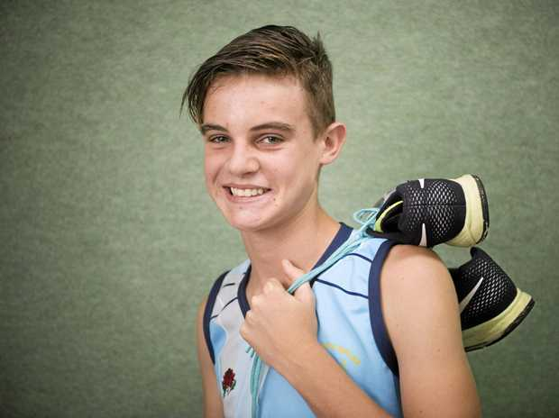 TRACK STAR: Grafton runner Grayson Reimer won Jetts Fitness Junior Sportsperson ofthe Month for December after winning two silver medals at Pacific School Games.