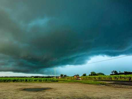 The supercell stormfront captured by Megs Burgess from her vantage point looking across Palmers Island.